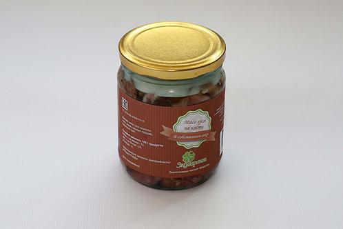 Мясо гуся в собственном соку на кости ст.б. 500 гр