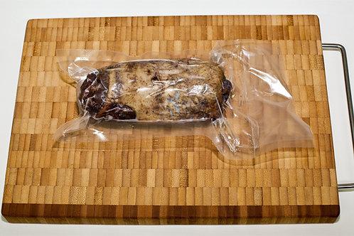 Мини рулет из мяса гуся копчёный с орехами, 100 гр