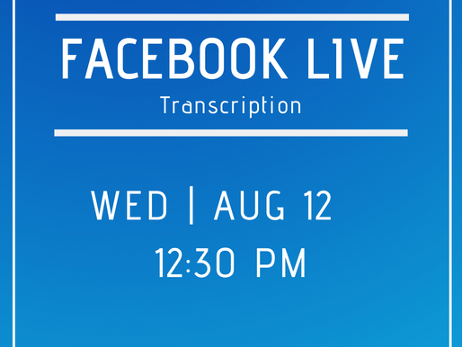 Facebook Live 8/12- Answers