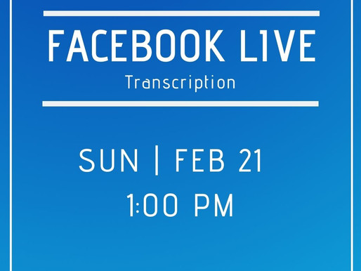 Facebook Live 2/21 Answers