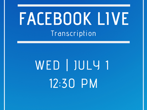 Facebook Live 7/1- Answers