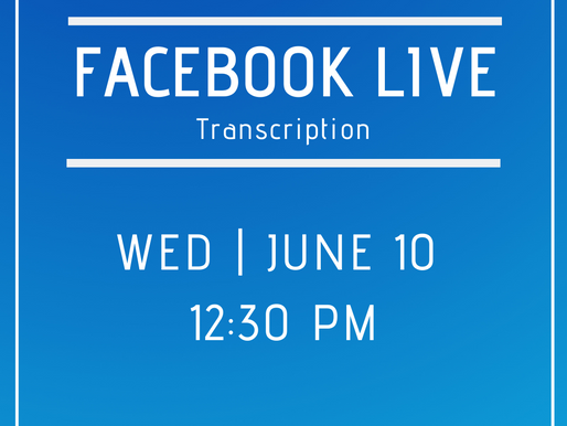 Facebook Live 6/10- Answers