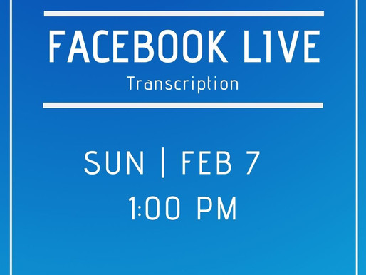 Facebook Live 2/7/21 Answers