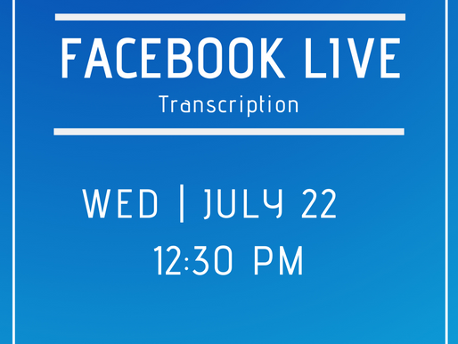 Facebook Live 7/22- Answers