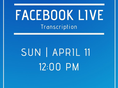 Facebook Live 4/11 Answers