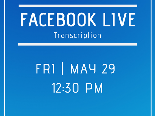 Facebook Live 5/29- Answers