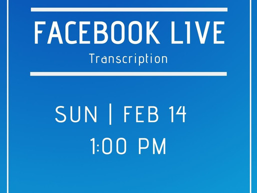 Facebook Live 2/14 Answers