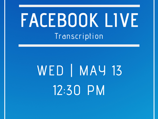 Facebook Live 5/13- Answers