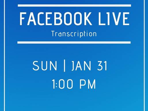 Facebook Live 1/31 Answers