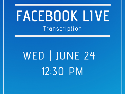 Facebook Live 6/24- Answers