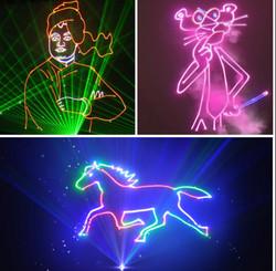 3D animation laser show