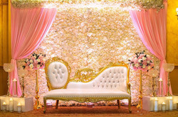 Flower wall,Up Lights Throne