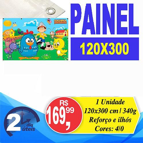 Banner 300x120cm c/ ilhós