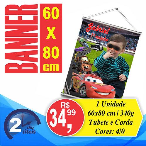 Banner 80x60cm c/ tubete