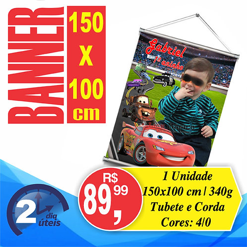 Banner 150x100cm c/ tubete
