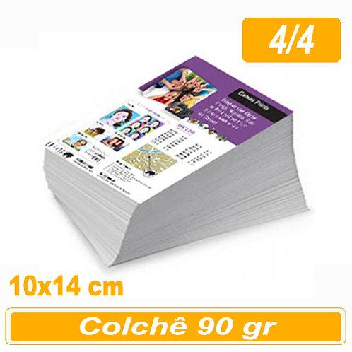 2.500 Panfleto 10x14cm - 4/4 - 90g