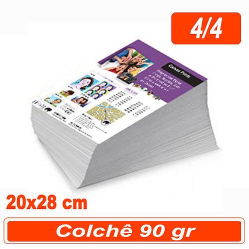 2.500 Panfleto 20x28cm - 4/4 - 90g