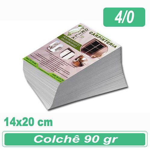5.000 Panfletos 14x20cm - 4/0 - 90g