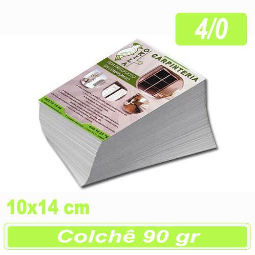 2.500 Panfleto 10x14cm - 4/0 - 90g