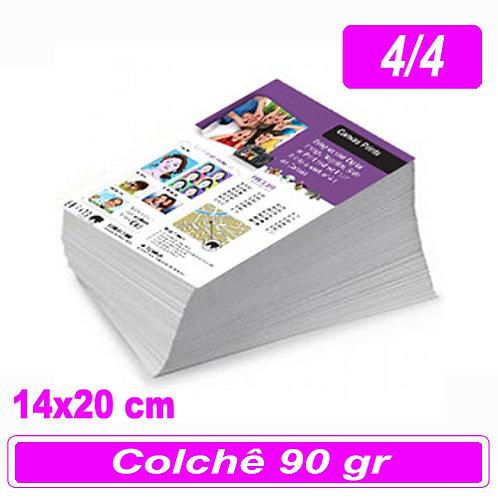 5.000 Panfletos 14x20cm - 4/4 - 90g