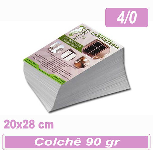 1.000 Panfletos 20x28cm - 4/0 - 90g