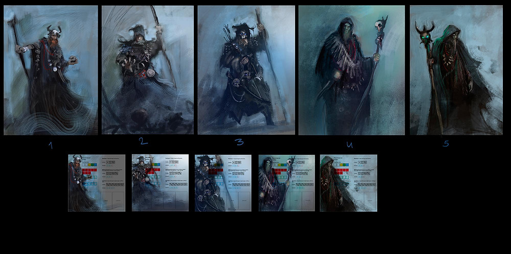 Concept sketches for Necromancer