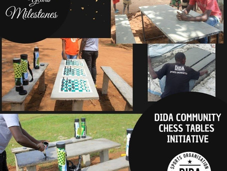 Permanent community chess tables