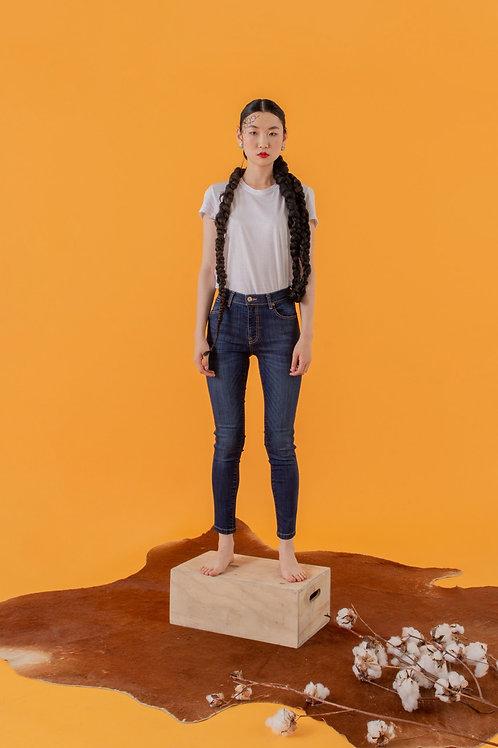 Light Blue Mid-Rise Skinny Jeans