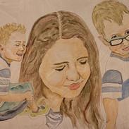 Watercolor on Gesso