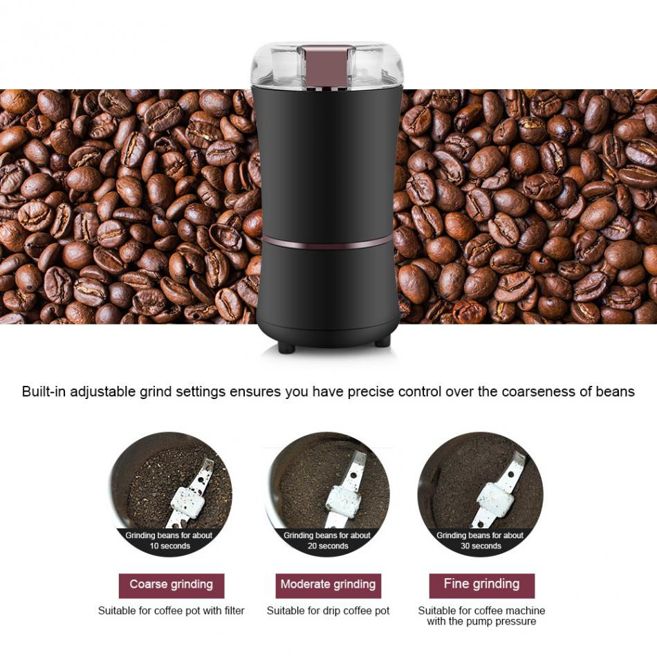 blade coffee grinder which use high speed blade to cut the beans or other ingredients.