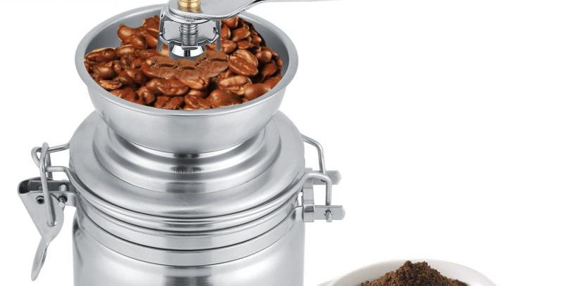 Amazon hot sell Stainless steel ceramic mill manual coffee grinder