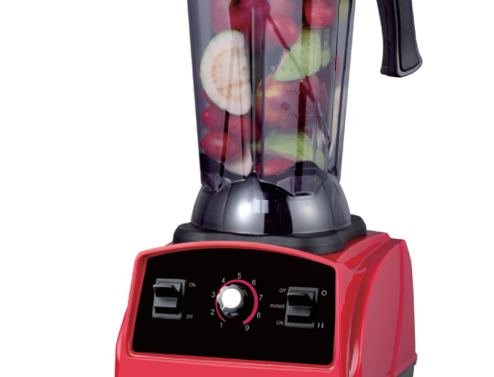 High HP 6 layer sawtooth SUS blade blender with Container, Tamper, Measuring Lid