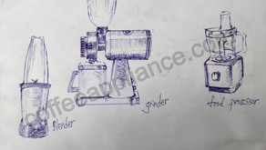 Difference between blender, grinder, food processor