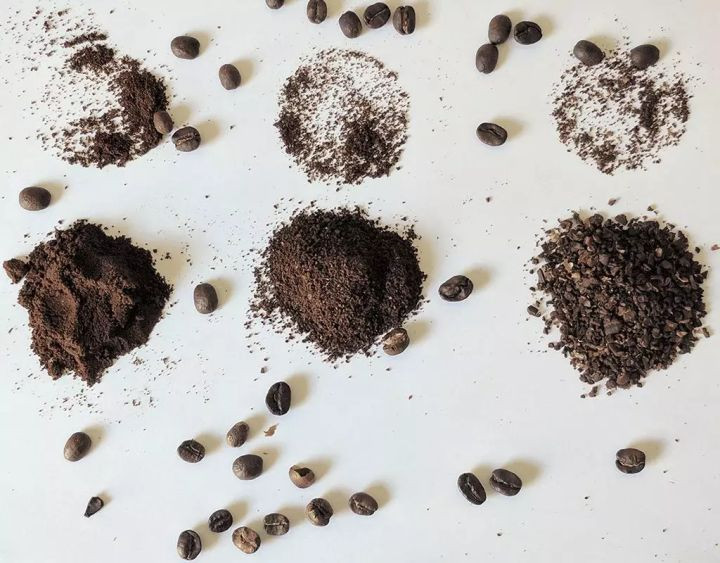 differnt fineness of coffee powder