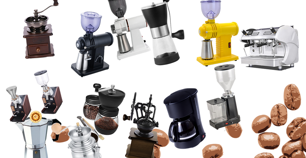 Check the categories of the grinders and coffee makers