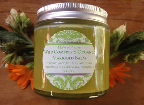COMFREY & CALENDULA HERBAL SALVE -Strengthening and soothing organic ointment