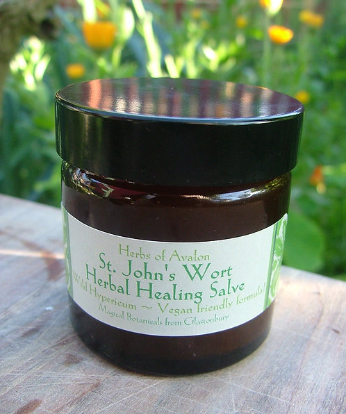 ST JOHN'S WORT HERBAL SALVE - Organic ointment to ease pain and soothe nerves