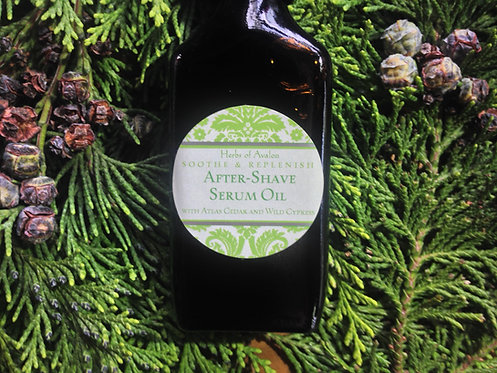 ORGANIC AFTER-SHAVE SERUM OIL - Hemp, Cedarwood & Wild Cypress, Refines the Skin