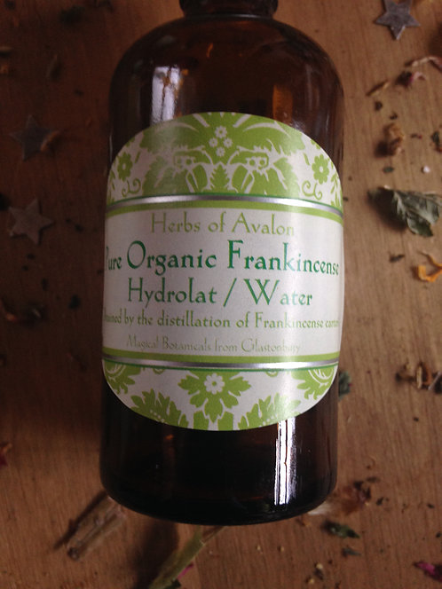 ORGANIC FRANKINCENSE WATER - Pure Hydrosol from Distilled Boswellia Carterii