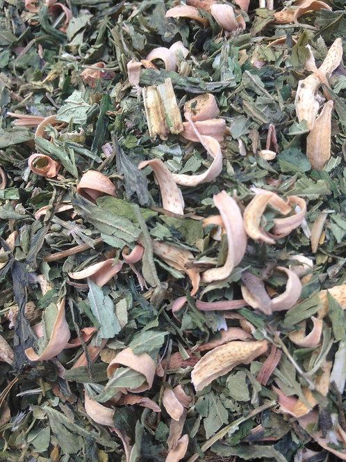 ORGANIC HEMP & ORANGE BLOSSOM - Herbal Tea Blend - Relaxing Beautiful Blend
