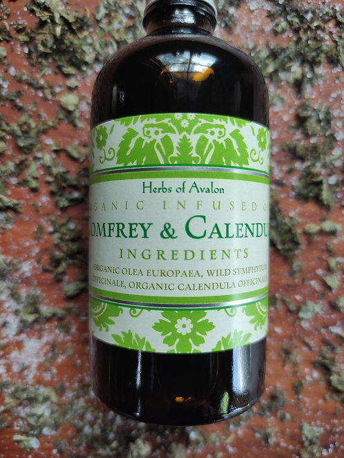 COMFREY & CALENDULA INFUSED OIL - Organic & Wild - Soothes and nourishes