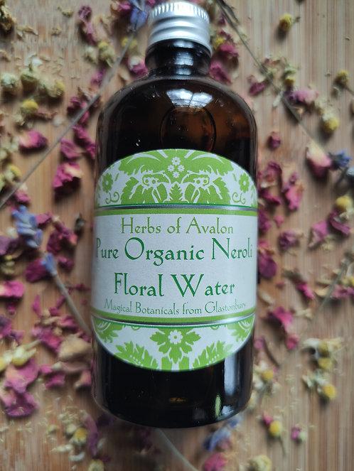 ORGANIC NEROLI FLORAL WATER -Pure Organic Distillate - Citrus aurantium
