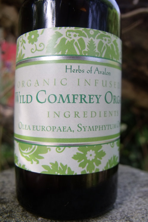 COMFREY INFUSED OIL - Wild Symphytum officinale in organic oil - Repair & heal