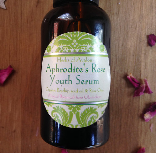 APHRODITE'S ROSE YOUTH SERUM - Organic  Triple Rose & Rosehip, Anoint & Bless