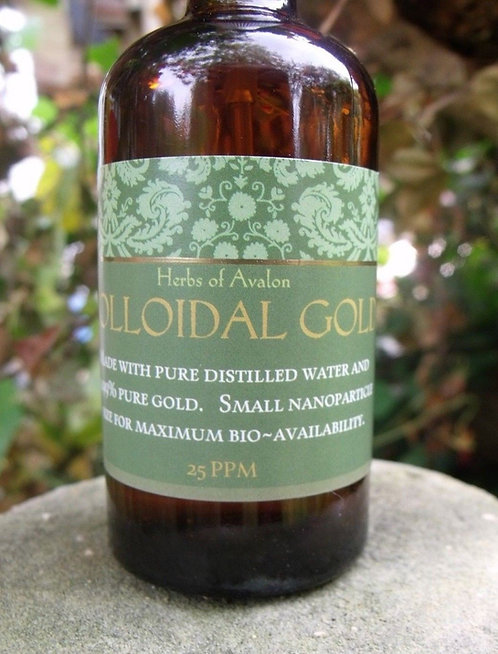 COLLOIDAL GOLD 40ppm 99.999% Pure Gold bioavailable small nanoparticle size