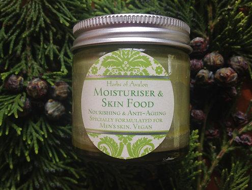 MOISTURISER FOR MEN- Botanical Skin Food - Vegan Formula - with Hemp & Cedarwood