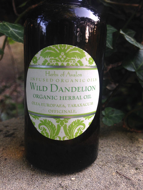 DANDELION FLOWER INFUSED OIL - Organic healing oil - Relieves aches & pains