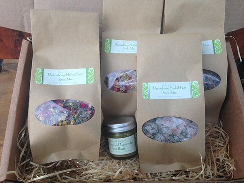 Detoxifying Herbal Foot Soak Gift Set - 5 Different Herbal Soaks