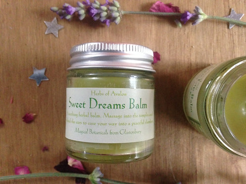 SWEET DREAMS SLEEP BALM - with Hops Skullcap Valerian Passionflower and Lavender