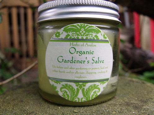 ORGANIC GARDENER'S SALVE - with Rosemary & Myrrh - Soothes dry, cracked hands